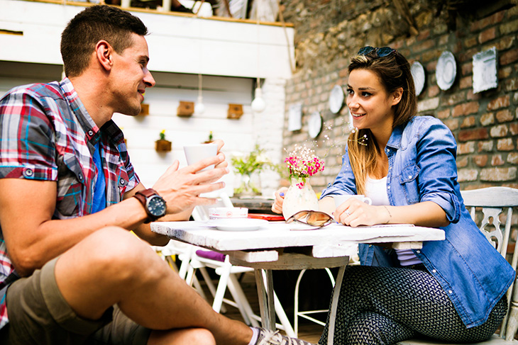 Dating at the coffe shop